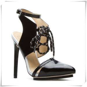 GX by Gwen Stefani Pointy Toe LaceUp Sandals Heels